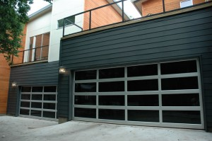 contemporary style glass garage door milwaukee wi
